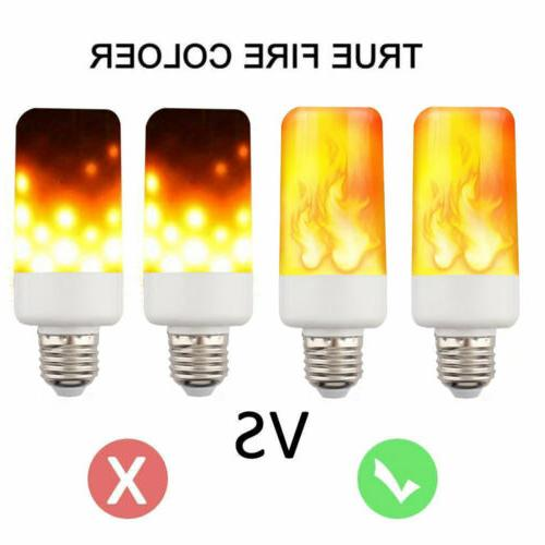 4-PACK LED Flame Fire E27 Flickering Lamp Simulated Decorative