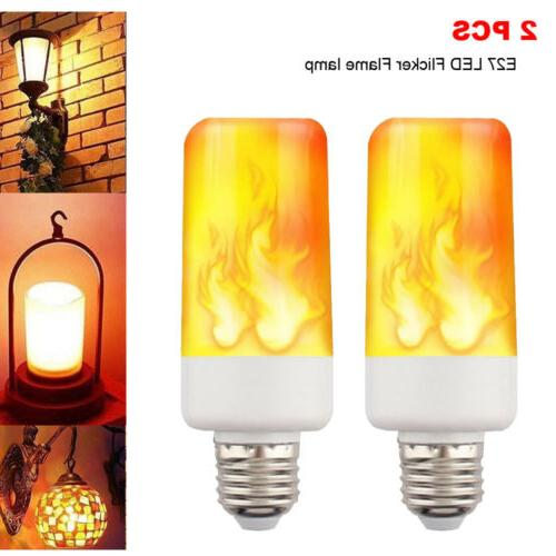 2 pack led flame effect fire light