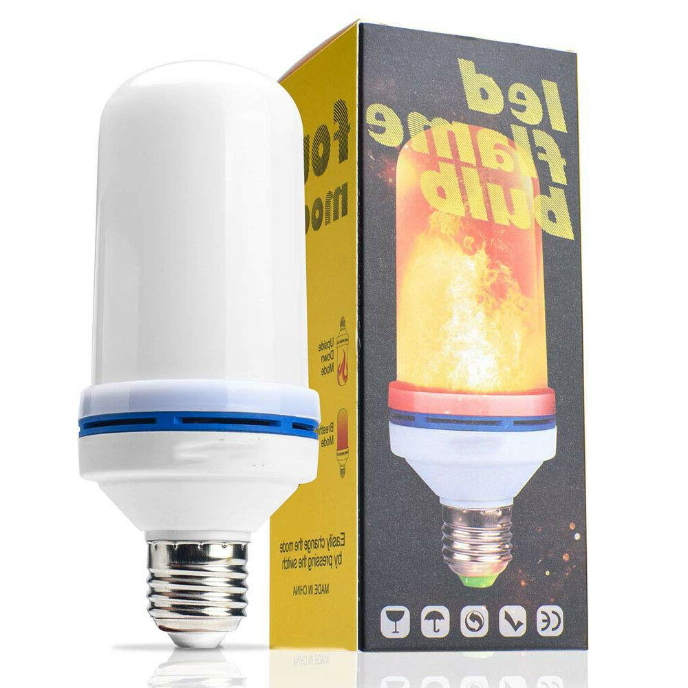 2 Pack Flame Effect Simulated Fire Light Bulb E27 Lamp