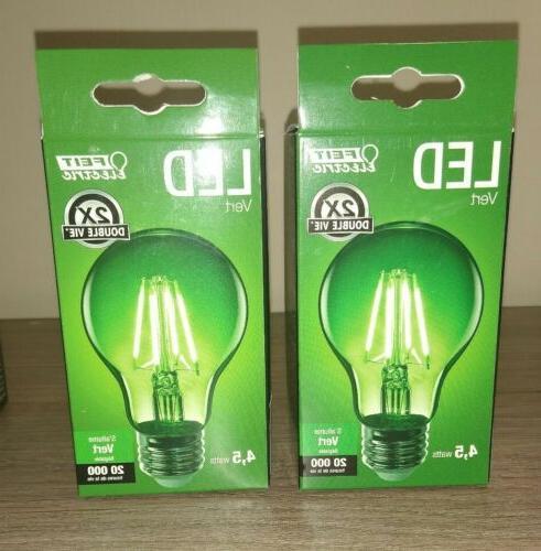 2 pack led green light bulb 4
