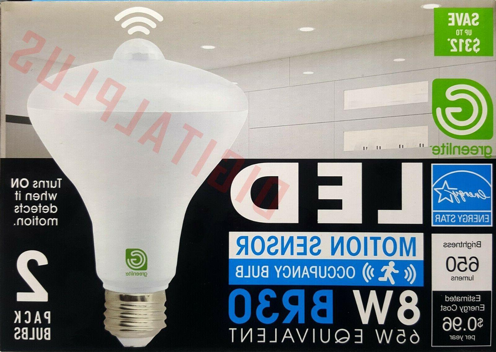 2 LED Motion Sensor Bulb 8W Equivalent 650L E26