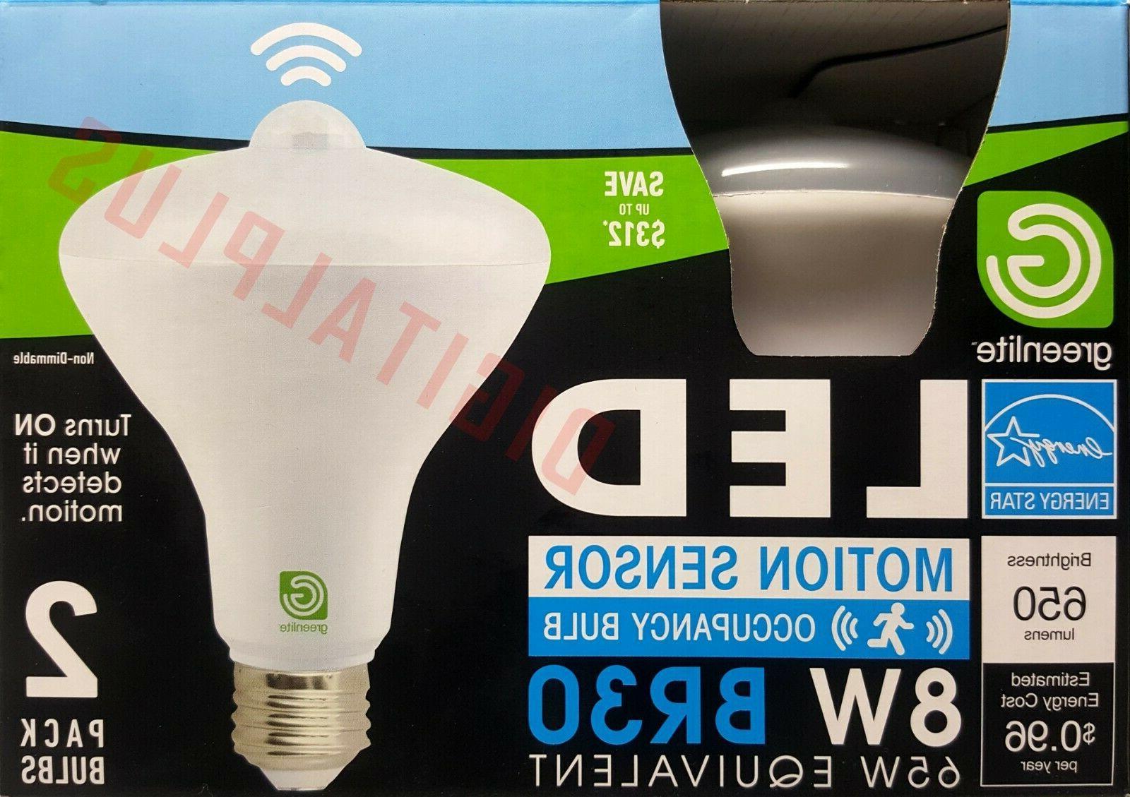 2 Sensor Light Bulb BR30 3000k 65 Equivalent