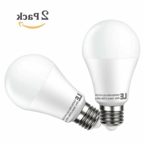 2 x A19 LED Bulb LED Light Bulbs 40W Equivalent 7W Warm Whit
