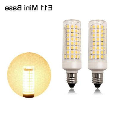 2pcs e11 led bulb 102led ceramics lamp