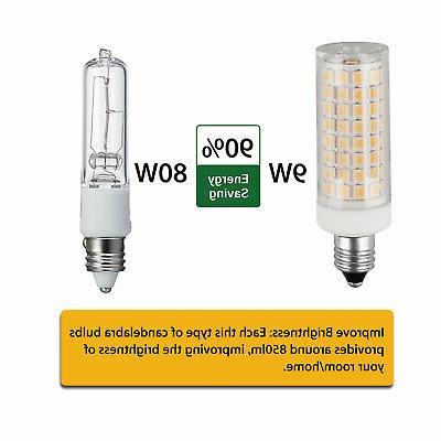 2pcs E11 LED Bulb 110V Dimmable LED Ceramics Ceiling Lamp