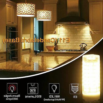 2pcs E11 LED Bulb Dimmable Ceramics Ceiling