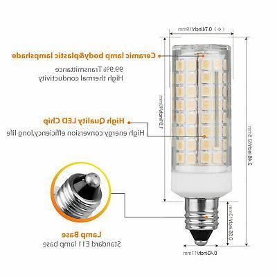 2pcs E11 LED Light Bulb Fans AC 120V 9W