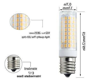2pcs E17 bulb 102-2835 Ceramics 7W 110V 120V for