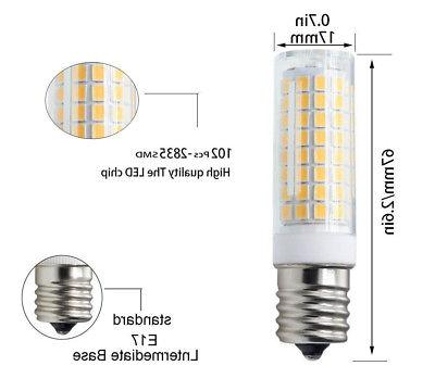 2pcs E17 LED Ceramics Light 9W Lamp White H