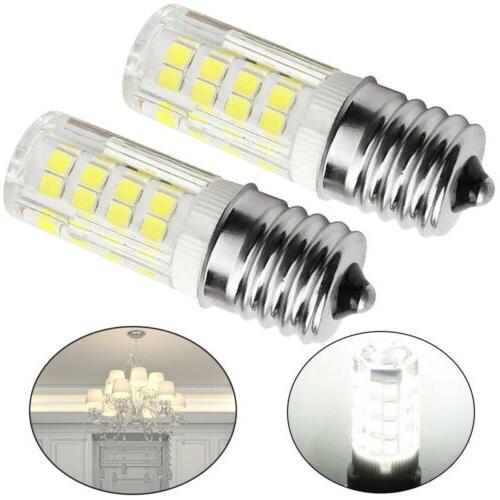 2x Intermediate LED E17 Base Bulb Dimmable Ceiling Halogen R