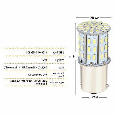 10Pcs DC 12V 1003 1141 RV White LED Tail