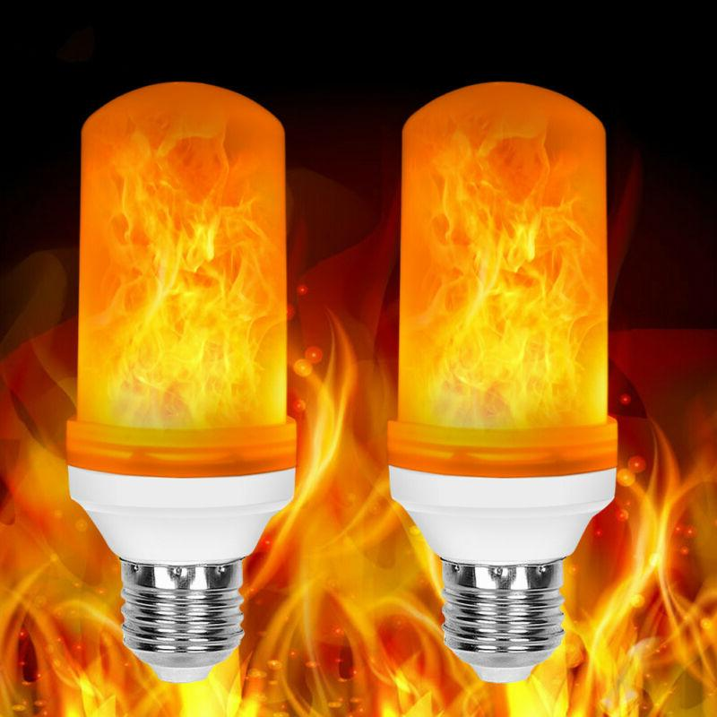 2X LED Flame Bulb Burning Festival Party