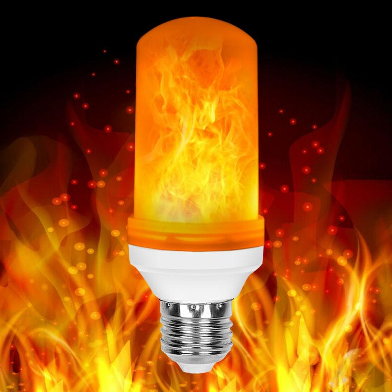 2X E26 LED Flame Bulb Burning Fire Party