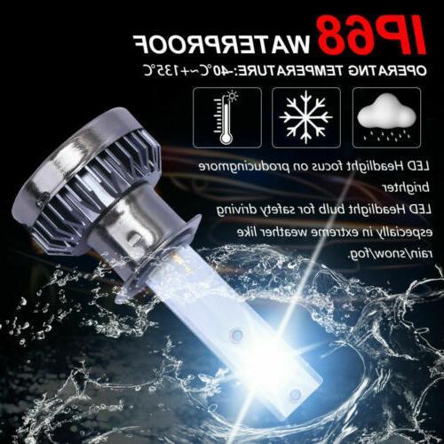 2x COB LED Bulb High Low Beams 6000K 1200W