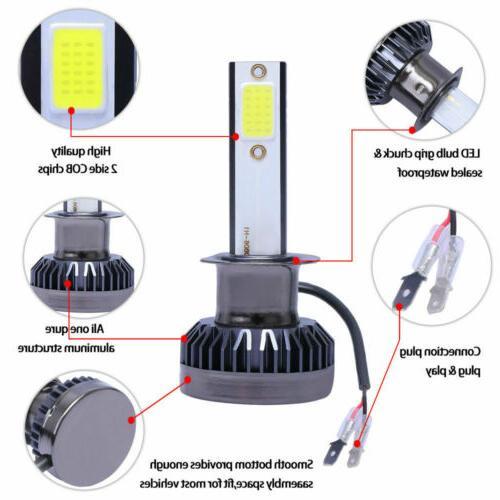 2x Mini COB LED Headlight Bulb Low Lamp 6000K 260000LM