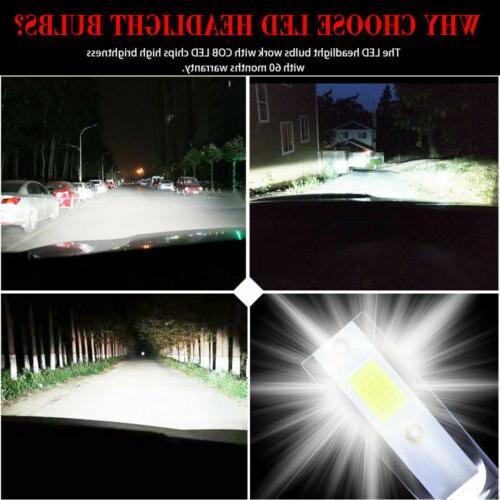 2x Mini H1 COB LED Headlight Bulb 6000K 260000LM