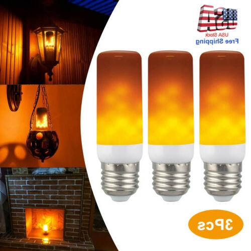 3 pack e27 led flicker flame fire