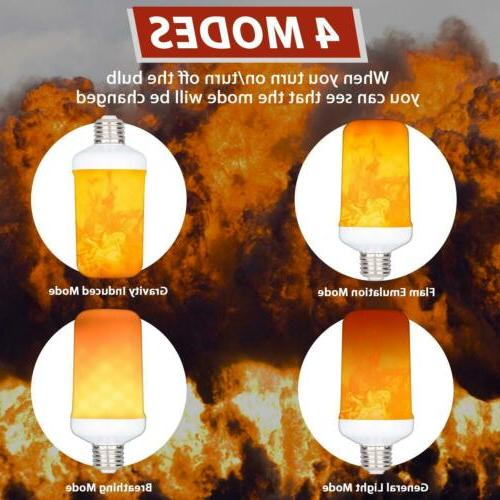 3 Pack Effect Simulated Fire Light Decor E27 Lamp