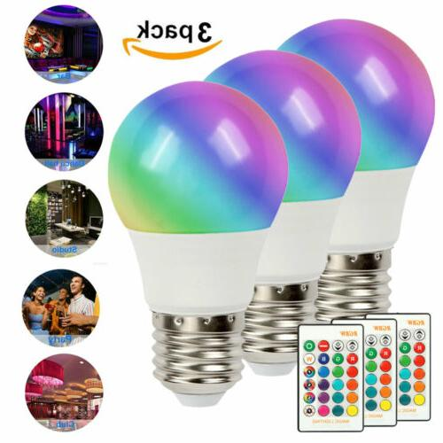 3 pcs 16 color changing light bulbs