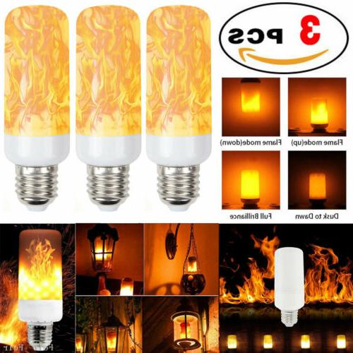3 Pack LED Flame Effect Simulated Flicker Nature Fire Bulbs