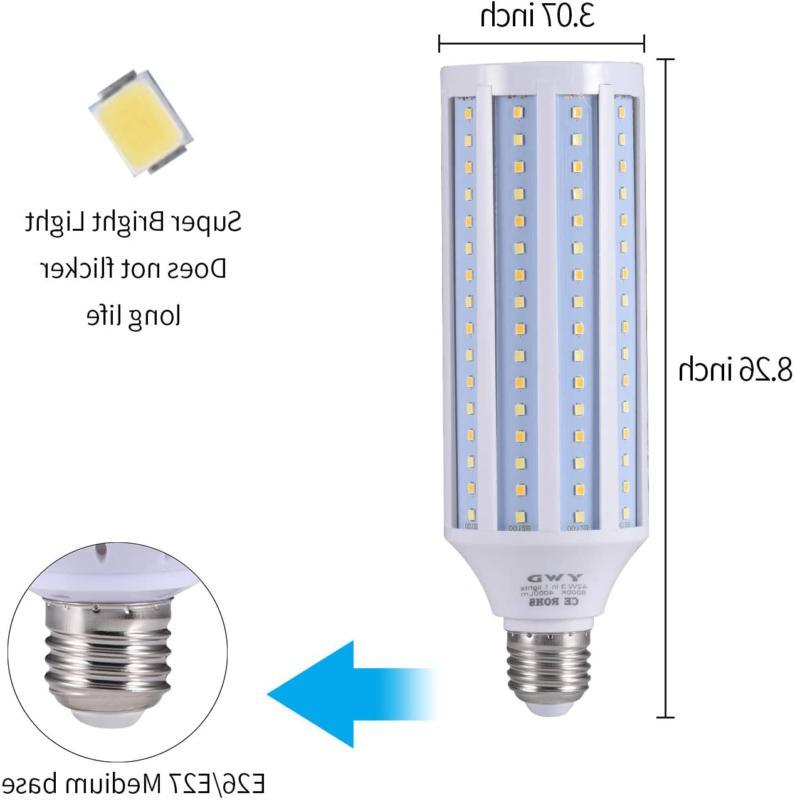 300 Watt LED Light Bulb 4000lm E26/E27 Base Basement
