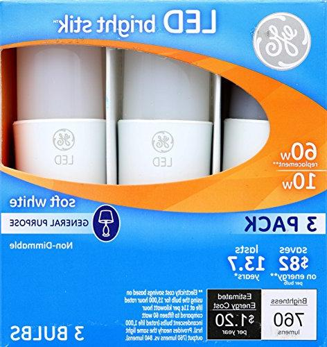 Bright Stik 10-watt , 760-Lumen Non-Dimmable with Medium Base, Soft White, Box