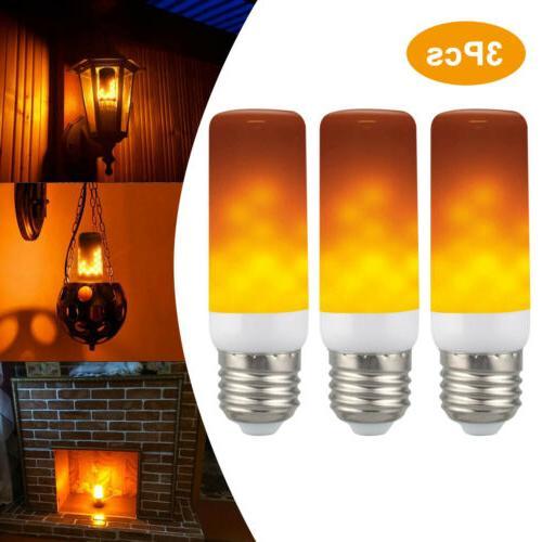 3 E27 Flicker Flame Fire Simulated Nature Bulb Decor