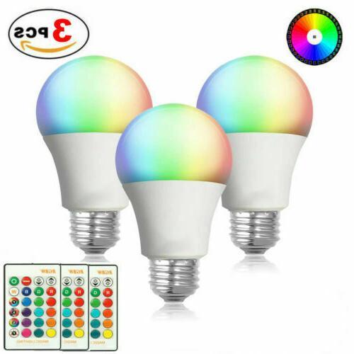 3pcs e26 rgb rgbw led light bulb