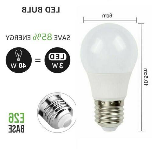 3pcs LED Bulb Color Magic Remote