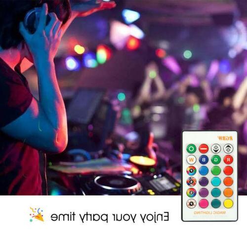 3pcs LED Multi Color Remote