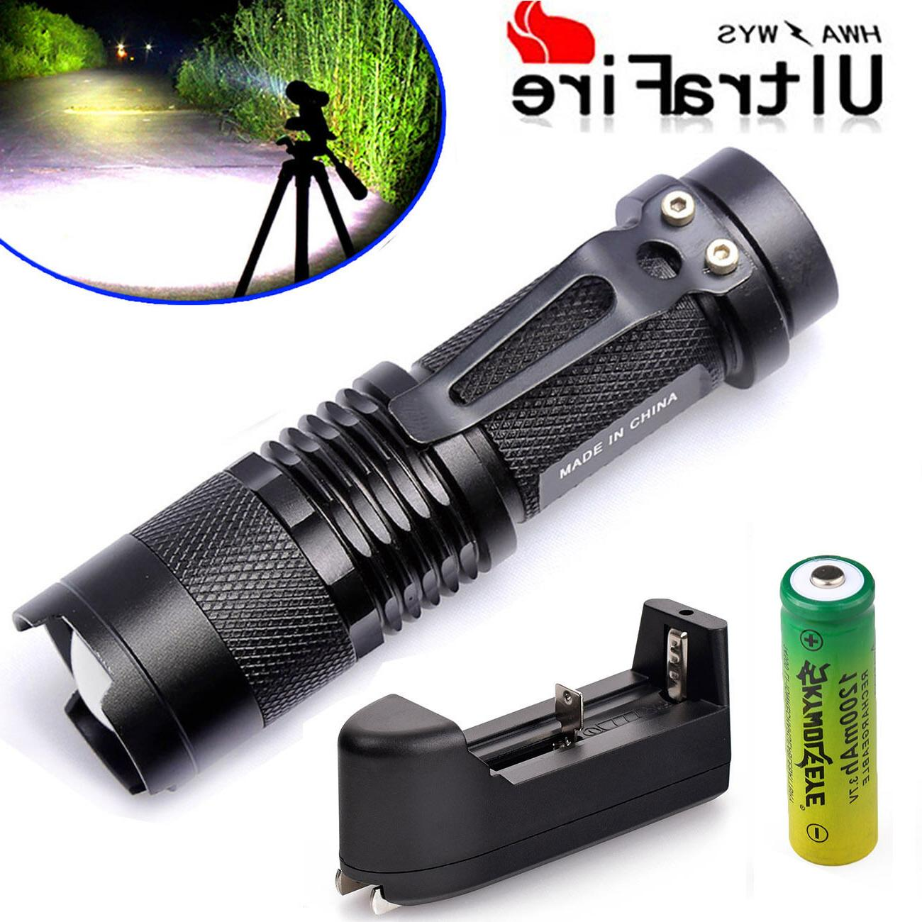 3Sets Police 8000LM CREE XM-L Torch +Battery