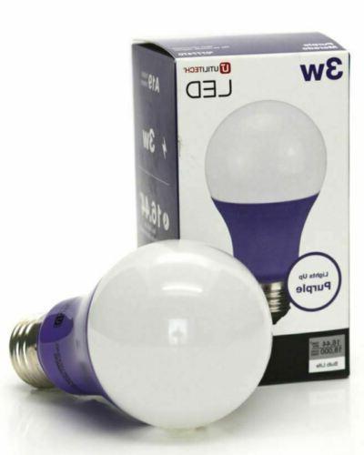 3w utilitech purple led light bulb a19