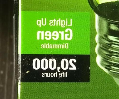 3x Green Bulb Feit A19 Dimmable