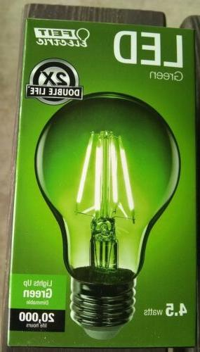 3x Green Feit Green Decorative A19 Dimmable