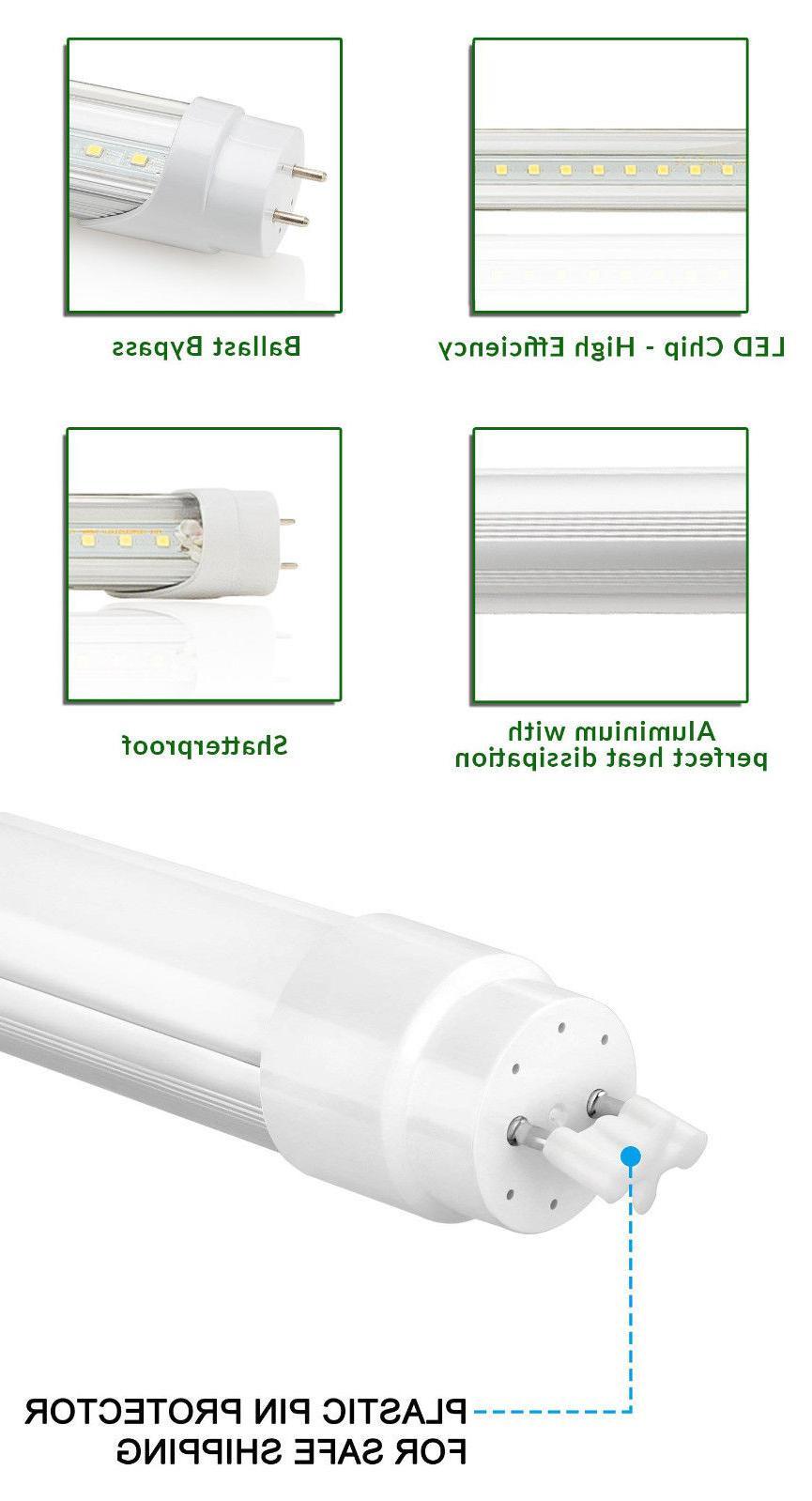 10-100 G13 4FT 4 Foot Tube Light 18W 6000K MILKY LENS