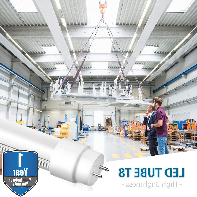 10-100 G13 4FT 4 Tube Light 6000K CLEAR OR LENS