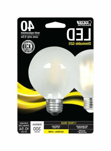 FEIT Electric  4.5 watts G25  LED Bulb  300 lumens Soft Whit