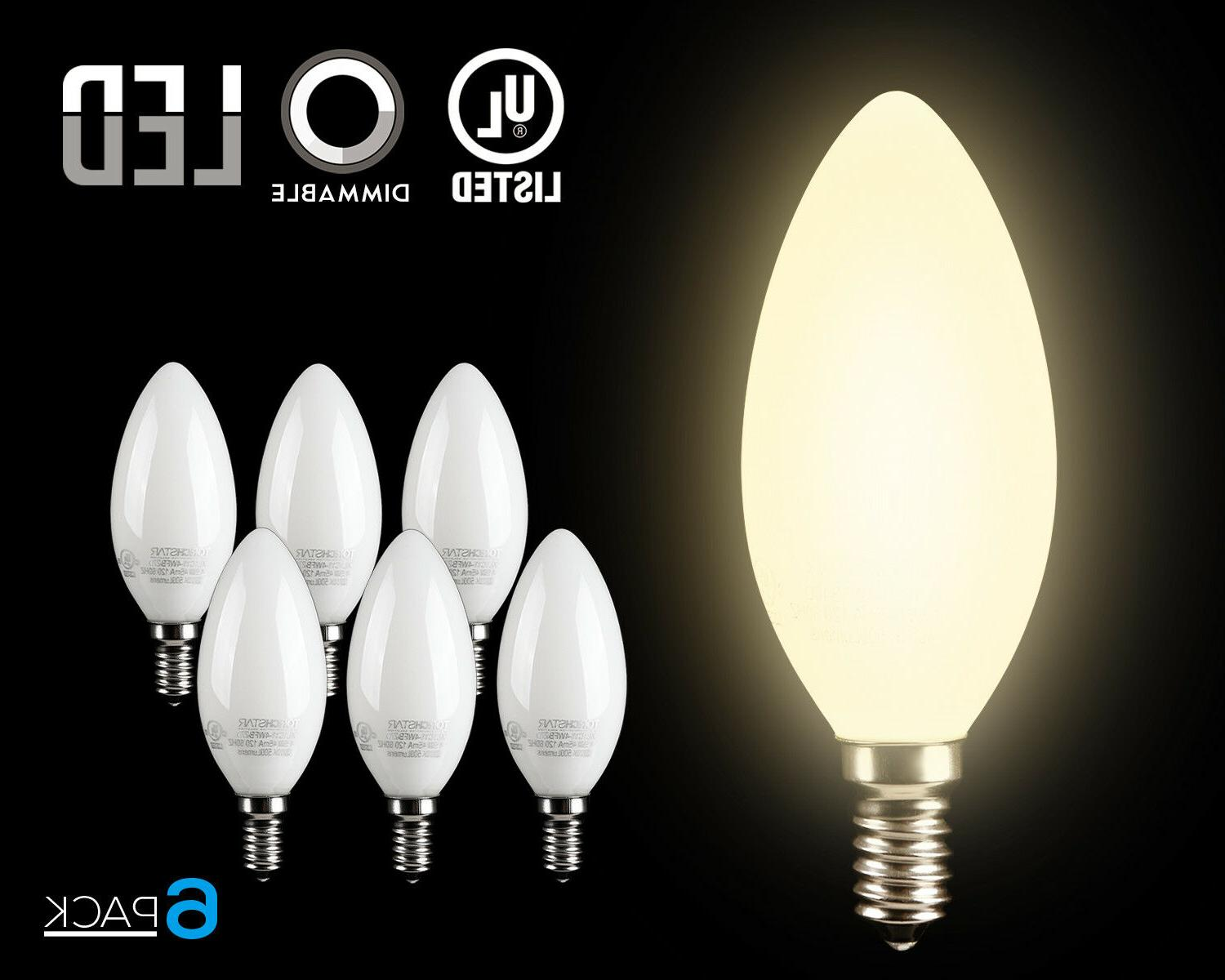 4 5w dimmable led c11 milky frosted