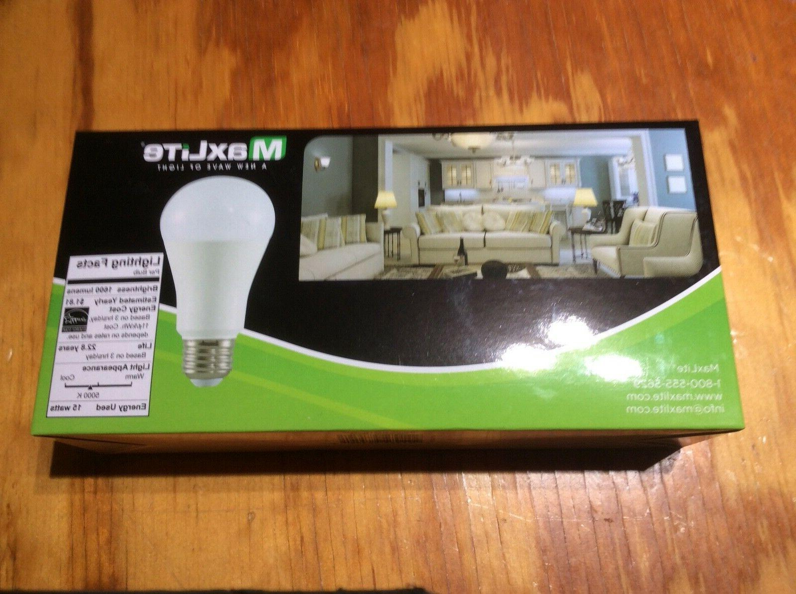 4 Bulbs Daylight A19 Replacement by Maxlite