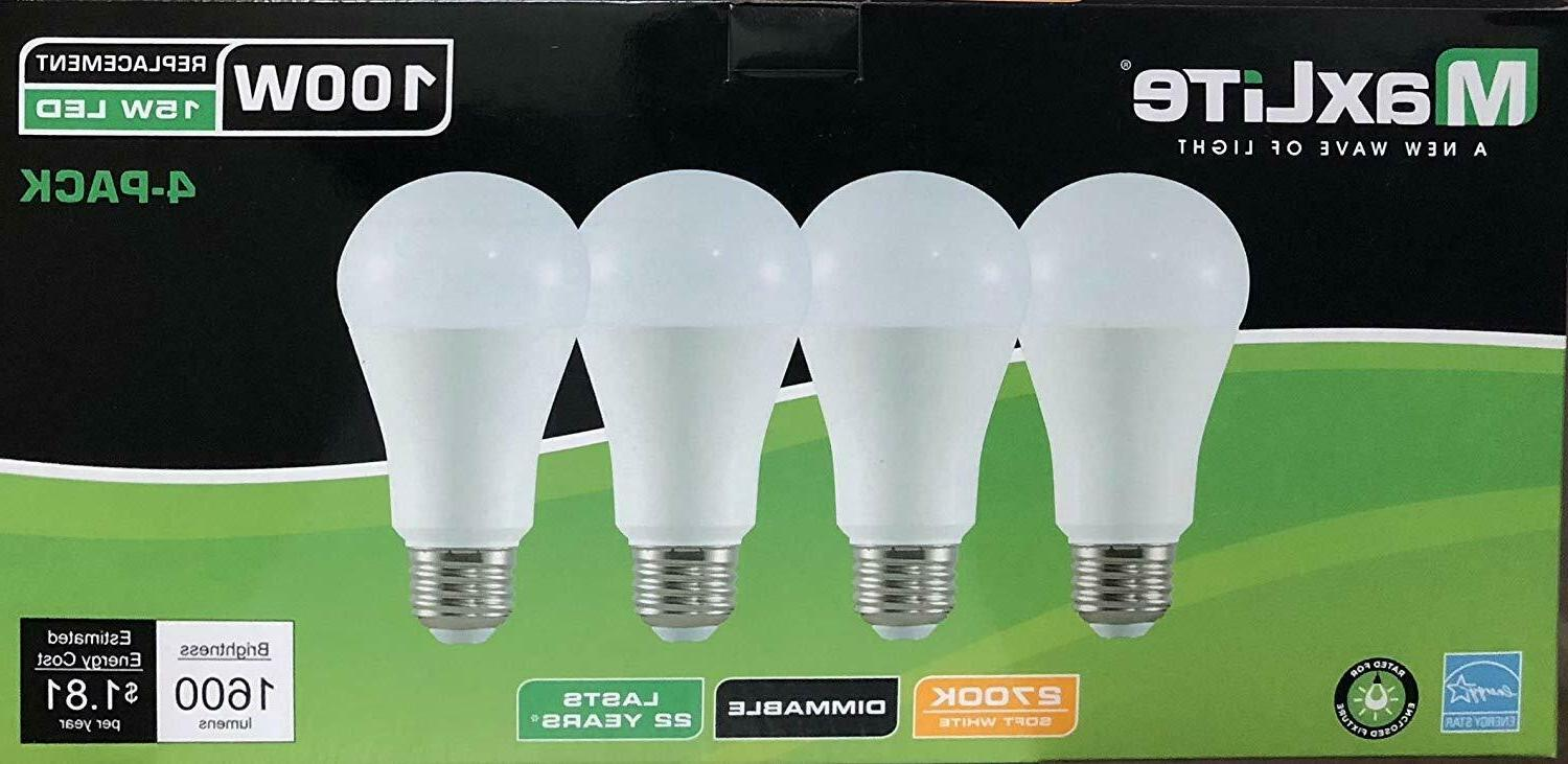 4 light bulbs 15w led 100w replacement