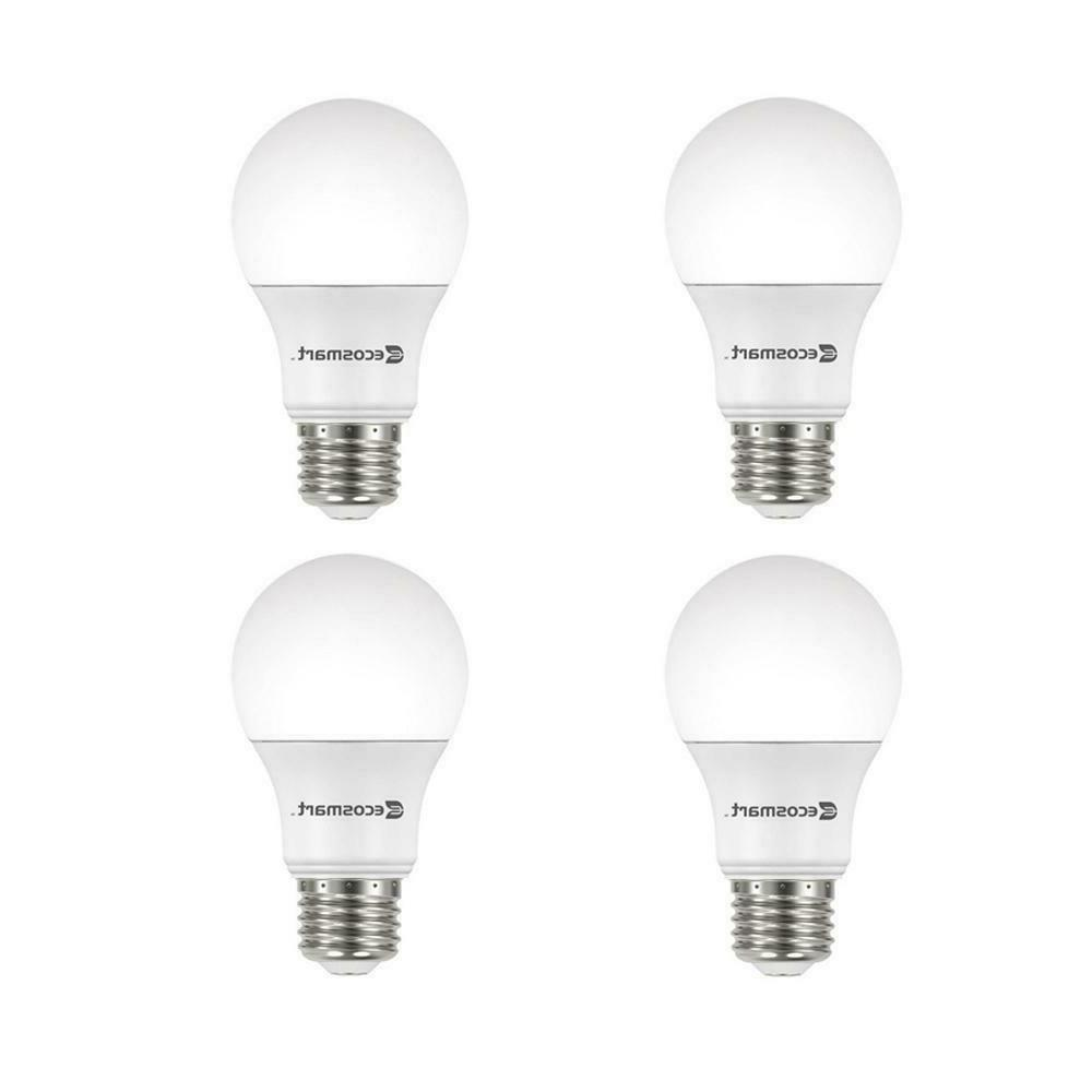 EcoSmart 60W Equiv. Daylight A19 Dimmable LED Light Bulb 4-P