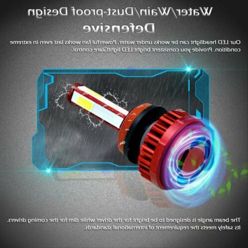 4 H11 H9 CREE Headlight Kits 1900W 285000LM Bulbs High 6000K