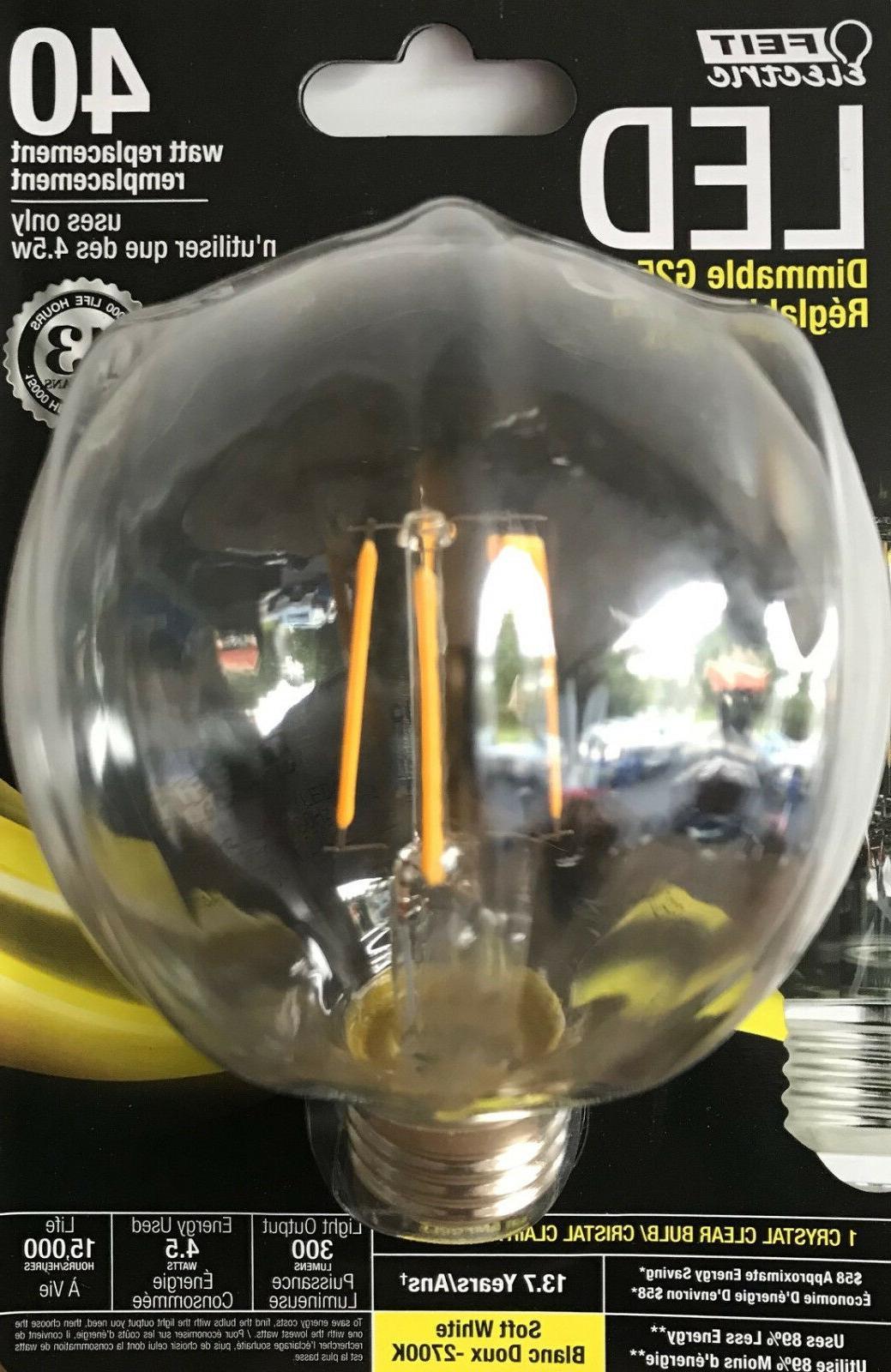 FEIT Electric 40-Watt Dimmable G25 Globe LED Light Bulb w/Me