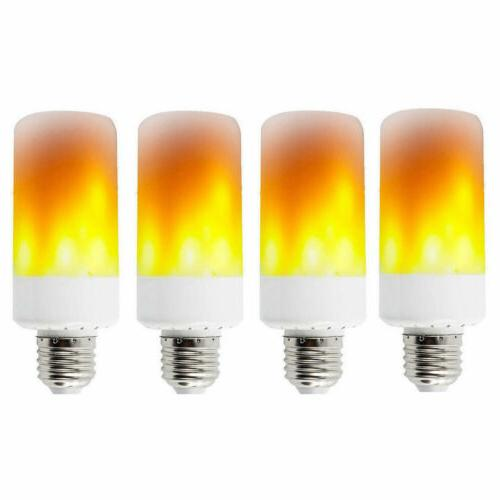 4-PACK E27 LED Flame Effect Fire Light Bulb Flickering Lamp