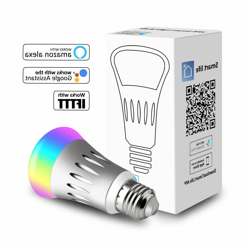 WiFi Smart Light Bulbs Dimmable Lamp For /Alexa/IFTTT