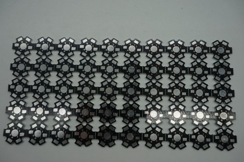 50pcs/lot Power 1w /3w /5w Heat Plate mm <font><b>LED</b></font> board KIT DIY
