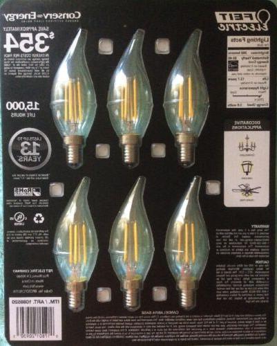 6 Candelabra Bulbs 40 WATT A19