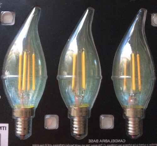 6 Electric Candelabra Bulbs 3.8W WATT A19