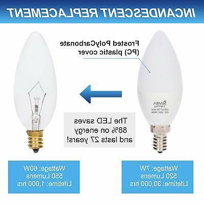6 Chandelier Light Bulbs E12 White 6W 60 Watt