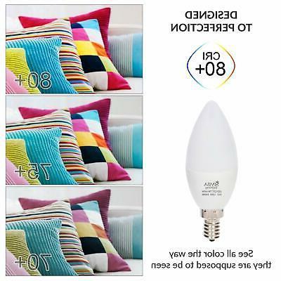 6 LED Base Chandelier Light E12 60 Watt